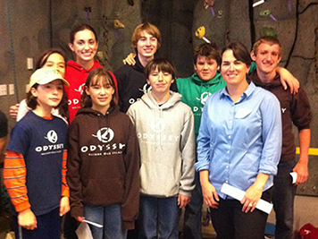 Amy Merten (right, front) with students from the 2012 Salish Sea Expeditions program.