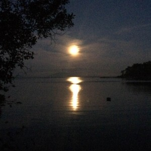 Moon set from Sucia Island