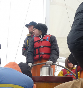 Starboard glance from the helm