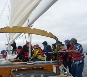 Learning to raise the mainsail